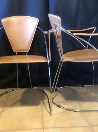 2 Fauteuil Design Éditeur Arrben Italy Années 70