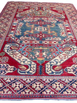 Tapis vintage Caucasien Kazak fait main, 1Q0041