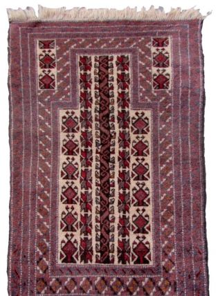 Tapis vintage Afghan Baluch fait main, 1Q0065