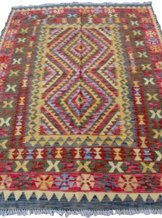 Tapis vintage Afghan fait main, 1Q0096