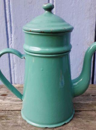 Cafetière émaillée vert d'eau 50cl