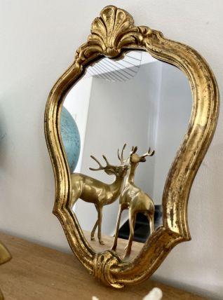 Ancien miroir doré vintage