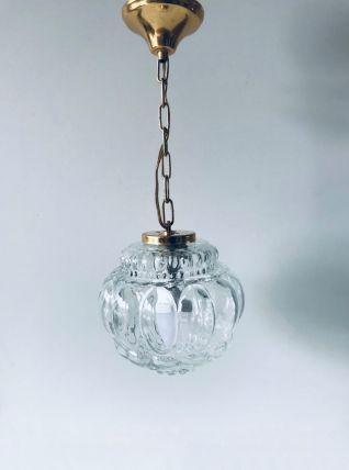 Suspension luminaire boule en verre
