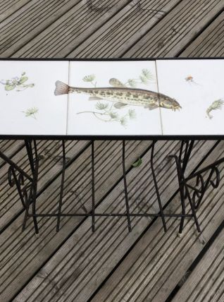 Kitschissime table d'appoint vintage