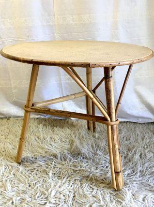 Table basse en rotin – années 60