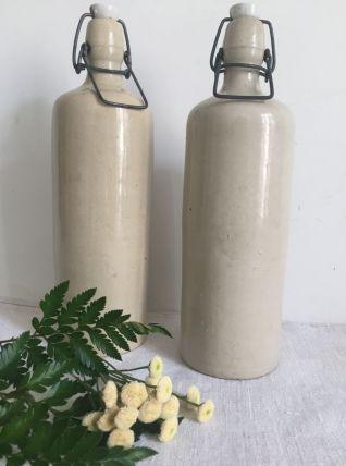 Duo de bouteilles en grès, décoration, collection