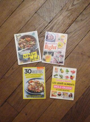 Lot de 4 Livres de Cuisine- Santé Magazine et Top Santé