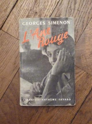 L'Ane Rouge- Georges Simenon- 1955- Librairie Artheme Fayard