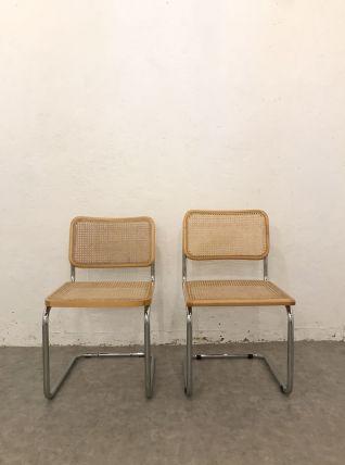 Paire de chaises Cesca B32 de Marcel Breuer