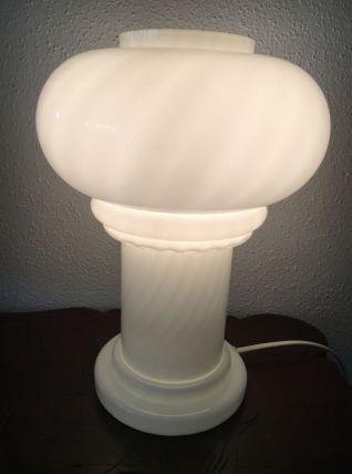 Lampe champignon opaline vintage
