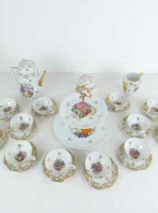 Service à café Français vintage en porcelaine de Limoges