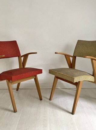 Paire de chaises vintage 60's
