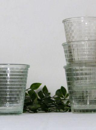 4 pots à confiture vintage