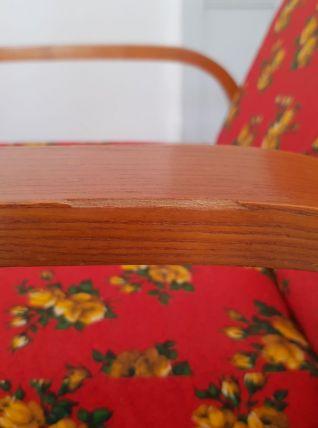 Fauteuil relax vintage (50's) bois courbé
