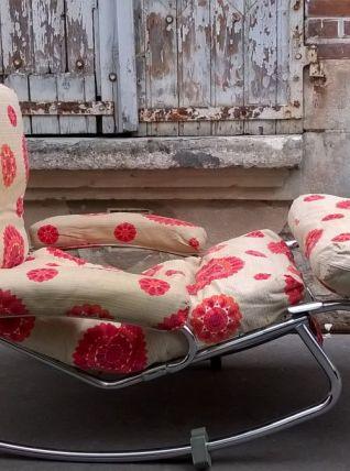 Chaise longue à bascule Lama années 70