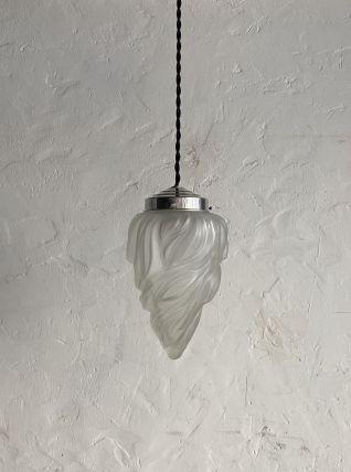 ANCIENNE LAMPE SUSPENSION FLAMME ART-DECO