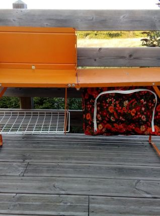Table pliante meuble de cuisine de camping orange