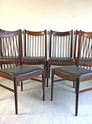 Ensemble de 6 chaises scandinaves Design Arne VODDER