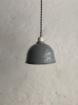 ANCIENNE LAMPE SUSPENSION EMAILLEE 13,5 cm