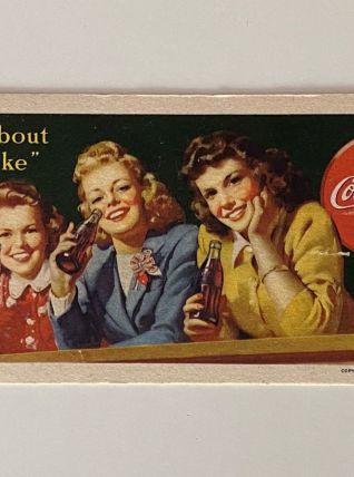 Lot de 5 Buvards Coca Cola Origine USA 1944