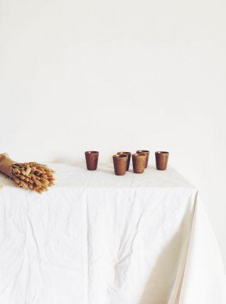 Ensemble 6 gobelets en grès de France