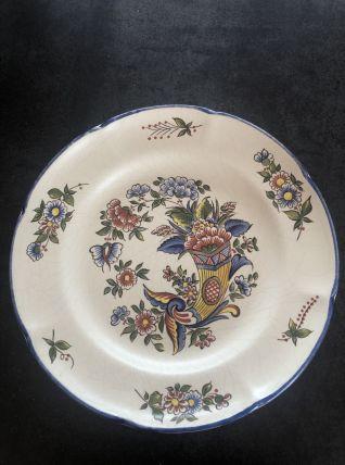 Ancienne assiette Saint Clément en faience