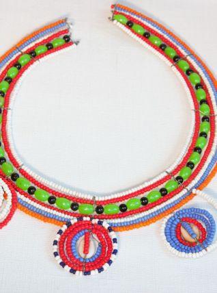 Original collier Masaï. Vintage. Bijou ethnique. Afrique.