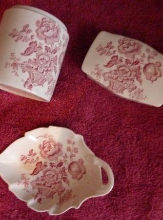 Ensemble de toilette vintage porcelaine anglaise CROWN DEVON