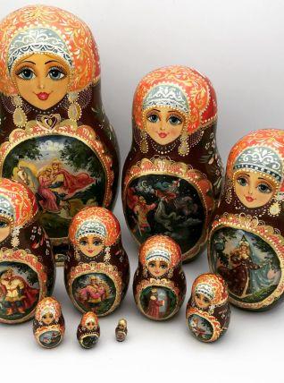 Poupées Russes  Matriochka 10 pièces 1985