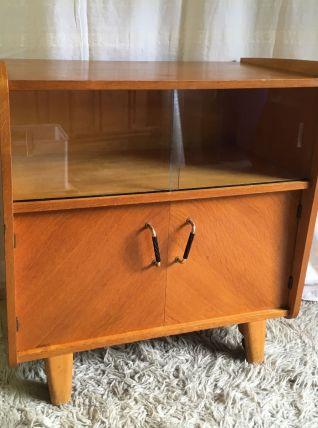 Meuble TV en chêne – années 50