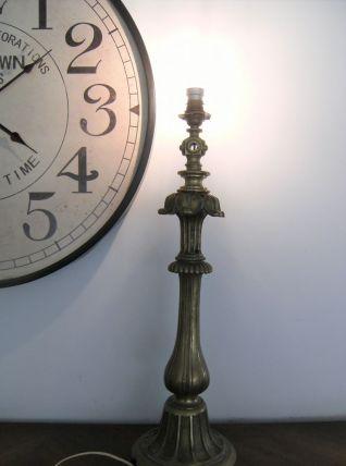 Lampe à poser colonne en bronze laiton vintage