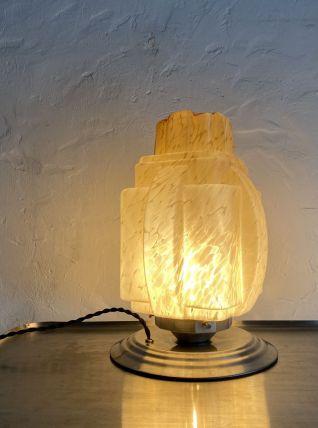 ANCIENNE LAMPE A POSER SKYSCRAPER ART DECO