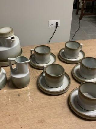 Service à café vintage en grés