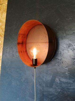 "Applique bois, lampe murale ""Recto Verso"""