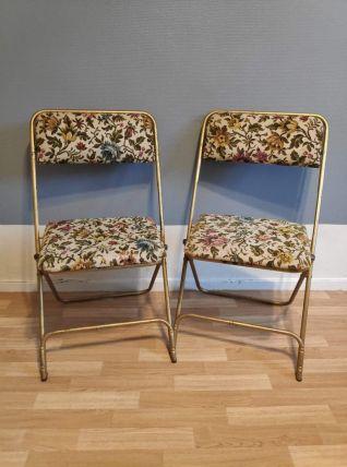 chaises pliantes Lafuma avec tissu imprimé fleurs