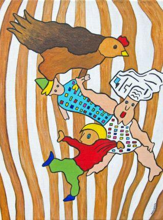 Le cuisinier, le mitron, la poule et l'équilibriste.