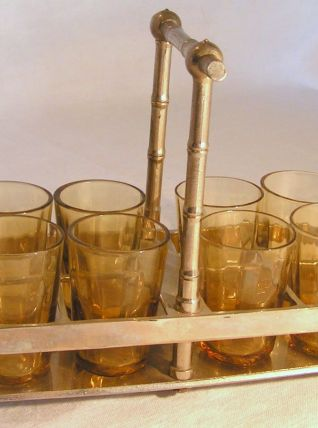 Panier de verres à liqueur