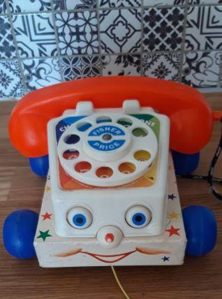 Jouet vintage téléphone fisher price 1961