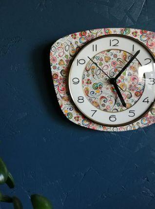 "Horloge vintage, pendule murale ""Art Déco"""