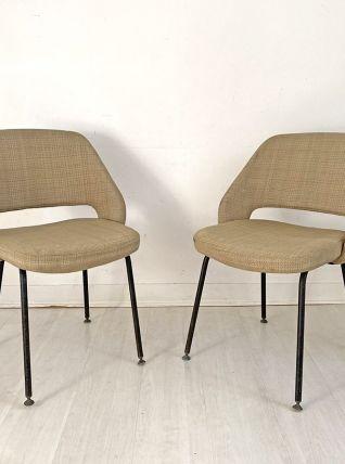 Paire de chaises KNOLL modèle conférence Eero SAARINEN