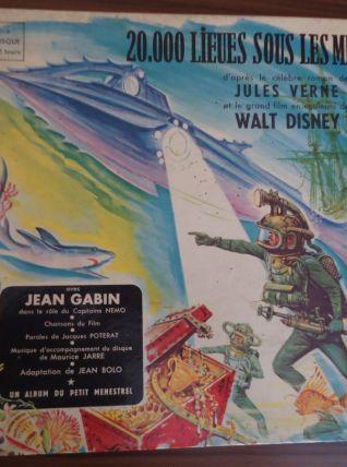 Album 20 000  lieux sous les mers Livre-Vinyle 33T 1956