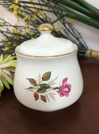 Sucrier vintage Digoin Sarreguemines modèle Roses