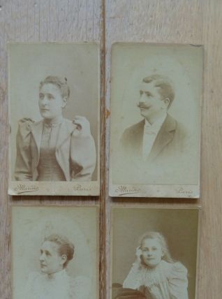 Photos anciennes portraits carte de visiste