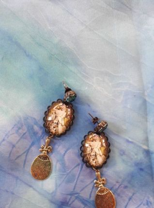 Boucles d'oreille fantaisie Klimt