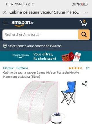 Cabine de sauna vapeur (sauna hammam) mobile portable