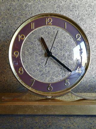 """Horloge vintage, pendule à poser """"La Dorée"""""""