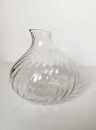 Vase en verre transparent, fait main