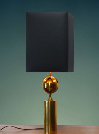 Lampe en laiton doré astrolabe