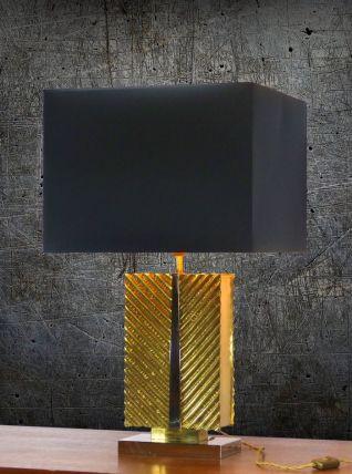 LAMPE DE TABLE EN LAITON MASSIF 1970 XXL