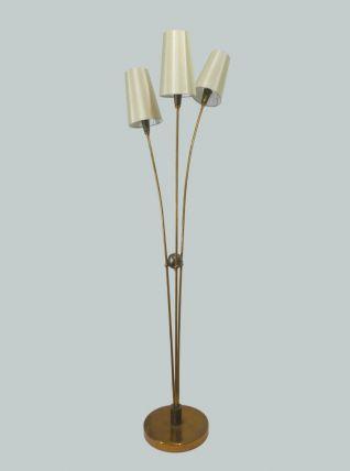 LAMPADAIRE VINTAGE EN LAITON 3 FEUX